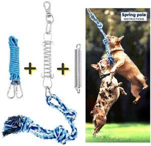Trsmima Spring Pole Dog Rope Toys